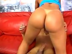 Lustful shemale jumps on big dick